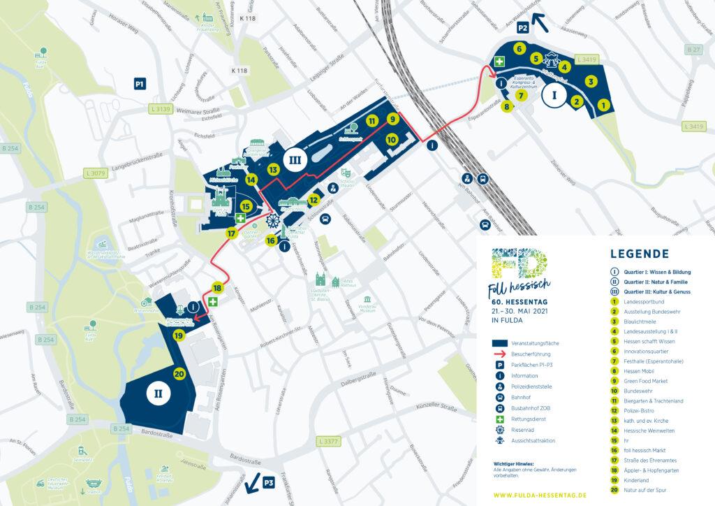 Lageplan Hessentag Fulda
